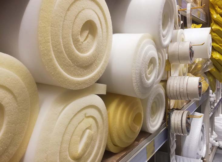 Rolls of seating foam